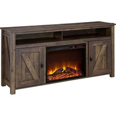 Farmington TV Stand with Electric Fireplace