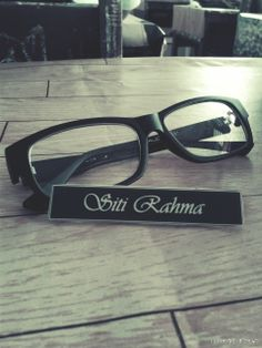 glasses and pin name