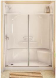 Shower Only One Piece Showers Pinterest Bath