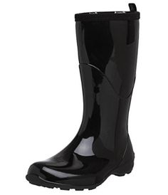 Kamik Women's Heidi Rain Boot Black/noir 8 M US for sale online Stylish Rain Boots, Best Rain Boots, Black Rain Boots, Designer Rain Boots, Toe Warmers, Black Noir, Cheap Boots, Waterproof Boots, Partner