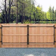 Wooden Fence Gate, Fence Gate Design, Wood Gates, Fence Gates, Wooden Driveway Gates, Wood Fences, Privacy Fences, Entry Gates, Dog Fence