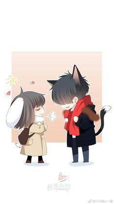 Cute Chibi Couple, Cute Couple Art, Anime Love Couple, Anime Couples Drawings, Anime Couples Manga, Cute Anime Couples, Kawaii Chibi, Anime Chibi, Anime Art