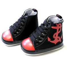 Rockabilly Anchor Baby Shoes, 12 days of Xmas sale, 30% off everything at checkout!