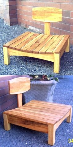 Durability and Comfort in the Form of Pallet Projects 2018 > Vippallets Pallet Bench, Pallet Furniture, Outdoor Furniture, Outdoor Decor, Wooden Pallets, Pallet Projects, Floor Chair, Shapes, Awesome