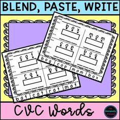 Distance Learning CVC Cut and Paste Activity Fun Phonics Activities, Learning Activities, Creative Teaching, Teaching Ideas, Cvc Word Families, Magnetic Letters, Hands On Learning, Cvc Words, Activity Sheets