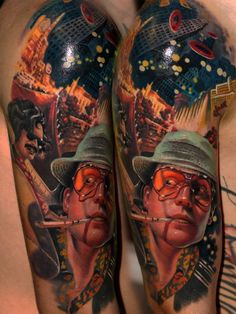YES! Johnny Depp as Hunter S. Thompson in Fear and Loathing in Las Vegas!     Csaba Müllner « – TattooArtProject.com – The best realistic tattoo artists in the world.