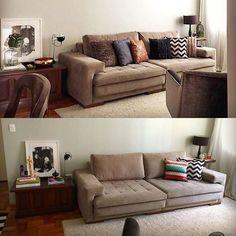 WEBSTA @ eridollinger - A mesma sala em duas versões! Assim como na moda um acessório muda todo o look, assim tb é na decoração! #mudesuacasa #casadecorada #apartamentodecorado #interiores #interiors #homestyle #homedecor #interiores #interiors #decoraçao #decoration #decor  #eridollinger #ericadollinger #personalhomestyle #livingroom #sala #almofadas #pillows
