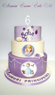 Sofia the first birthday cake for...Sofia!❤ - Cake by Azzurra Cuomo Cake Art