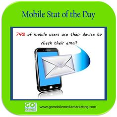 Mobile State of the Day: 74% of mobile users use their device to check their email.