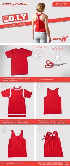 EL MUNDO DEL RECICLAJE: DIY Recicla una camiseta