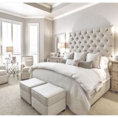 Phenomenal Remodel bedroom into closet,Bedroom designs luxury and Small bedroom decorating ideas images. Cozy Bedroom, Dream Bedroom, Girls Bedroom, White Bedroom, Cream Bedroom Decor, Bedroom With Couch, Taupe Bedroom, Mirrored Bedroom, Summer Bedroom
