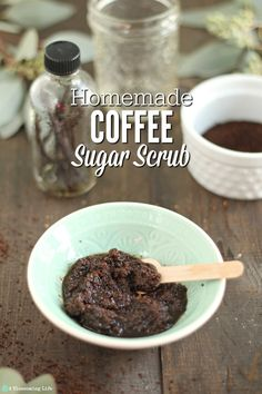 Homemade Natural Coffee Sugar Scrub