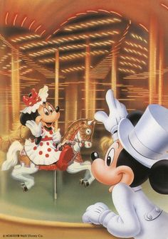 Mickey and Minnie carousel