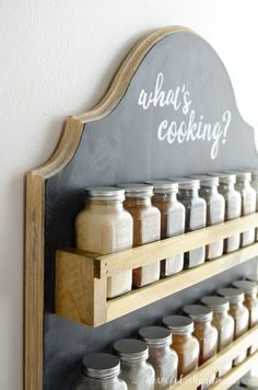 Wooden Spice Rack Build Plans Create a beautiful farmhouse style spice rack with this free build plan. The simple wooden spice rack has lots of … Hanging Spice Rack, Wood Spice Rack, Diy Spice Rack, Spice Storage, Diy Kitchen Storage, Diy Storage, Storage Ideas, Plastic Storage Drawers, Drawer Storage