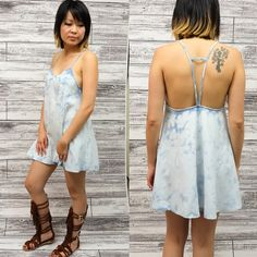 🆕LOLA open back denim mini dress/top 100%COTTON OPEN BACK DENIM MINI DRESS How unique & cute is this mini dress that can also be worn as a top. Pair with shirts or pants & you are set. 🚨NO TRADE, PRICE FIRM🚨 striped Bellanblue Dresses Mini