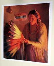 WAR BONNET Indian Print by Henry Sharp Buffalo Bill from Historical Center Museum for sale on EBAY by seller OLDWEST $24.50