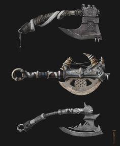 """ArtStation - Axes for """"Skara: The blade remains"""", Litos Lopez"""