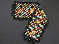 Boho huichol bracelet pattern por Vixenscraft en Etsy