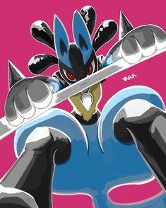 Mega Lucario, Lucario Pokemon, Pokemon Fan Art, Cute Pokemon, Random Pokemon, Fanart, Original Pokemon, Catch Em All, Digimon