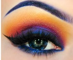 Great sunset colors, just would want them fading in blended vertical stripes on the eyelid