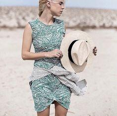 Lna clothing palm leaf dress
