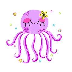 Octopus illustration created in adobe ideas!