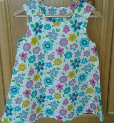 Pretty floral cotton sundress available in ages 1-8 years. Fabric subject to availability