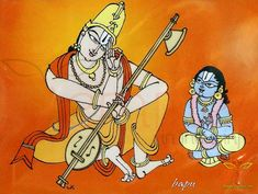 Bapu Annamayya chitralu Some of the pictures drawn by the greatest artist bapu. Cute Paintings, Indian Art Paintings, Indian Traditional Paintings, Indian Art Gallery, Lord Hanuman Wallpapers, Hindu Statues, Krishna Statue, Poster Background Design, Ganesha Painting