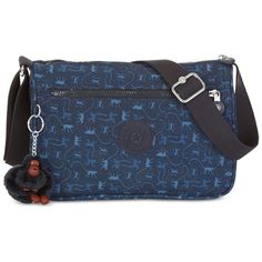 Kipling Callie Crossbody ($89) ❤ liked on Polyvore featuring bags, handbags, shoulder bags, monkey mania blue, nylon purse, blue crossbody, crossbody purse, kipling crossbody and blue cross body purse