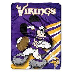 Minnesota Vikings NFL Mickey Micro Raschel (46in x 60in)