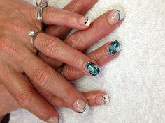 Gel nail art for my mama!