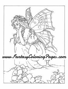 chrysies - Art Nouveau Unicorn Coloring Pages