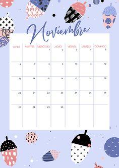 Calendario de noviembre de 2017, listo para imprimir o usar de fondo de pantalla