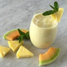 """Mighty Melon Green Tea Smoothie I """"This is an elegant drink with subtle flavor. Sort of an Arnold Palmer meets creamy smoothie."""""""