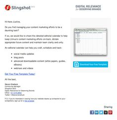 Slingshot SEO impresses us with their personalization & relevant content #emailmarketing #emaildesign