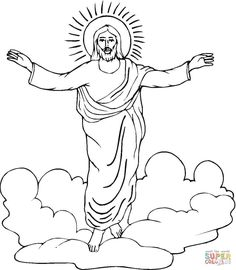 Resurrection Of Jesus Coloring Page From Category Select 27260 Printable Crafts