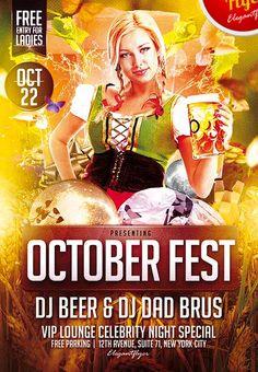 Free October Fest Flyer PSD Template - http://freepsdflyer.com/free-october-fest-flyer-psd-template/ Enjoy this great Free October Fest Flyer PSD Template  #Bar, #Beer, #Lounge, #Night, #Nightclub, #Octoberfest, #Party, #Pub, #Sexy, #Wiesen
