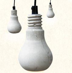 Concrete Bulb Lamp: Remodelista