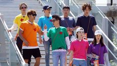 """""""Running Man"""" has entered its eighth year this year, and it's given us so much laughter, feels, and a mountain of ripped-off name tags! Running Man Cast, Running Man Korean, Ji Hyo Running Man, Korean Variety Shows, Korean Shows, Running Humor, Running Tips, Running Man Members, Kwang Soo"""