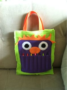 Monster Crayon Bag!! - Tutorial Included!