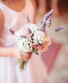 Lavender Bouquets | Swoon by Katie | blog.theknot.com
