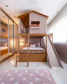 Cute Bedroom Decor, Room Design Bedroom, Home Room Design, Kids Room Design, Kids Bedroom Designs, Loft Bed Plans, Bunk Bed Designs, Cozy Room, Cool House Designs
