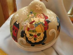 painted gourds ideas | today i finished painting this huge kettle gourd i painted a pattern ...