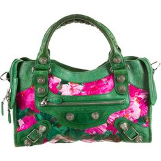 Pre-owned Balenciaga Motocross Floral Giant City Bag ( 995) ❤ liked on  Polyvore featuring bags 69f0342258069