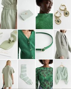 #andotherstories #green #moodboard #colour #fashion #inspiration #outfit #block
