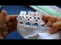 Bico em crochê - 227 - PARA CANHOTO - YouTube
