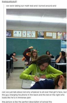 This is a perfect representation of high school