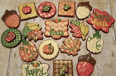 Fall Cookies https://www.facebook.com/sweetcharleyconfections