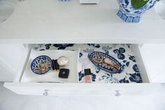One Room Challenge Week 6 | The Final Reveal from Marcus Design.  Brilliant and beautiful bathroom organization