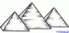 how to draw the pyramids of giza, pyramids of giza step 6